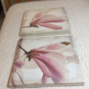 TWO FLOWER WALL  ART CANVAS